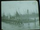 Photo Plaque De Verre . N Et B. Positif. Rotterdam. Bateaux,  Port De Volendame.. N°658 - Plaques De Verre