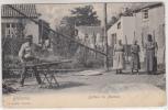 Bléharies - Batteur De Matelas - Animée - Edit. A. Cartier, Tournai - 1914 - Envoyée Au Camp De Beverloo - Métiers