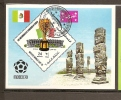 Foot Ball  Bloc Feuillet Oblitéré Ref 18 Yemen  MEXICO 70 - Football