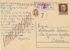 RAGUSA / PALERMO - 20.04.1943 - Card_Cartolina Postale Da Cent. 30 _ Verificato Per Censura - 1900-44 Vittorio Emanuele III