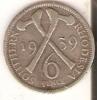 MONEDA DE PLATA DE RHODESIA  DE 6 PENCE DEL AÑO 1939  (COIN) SILVER,ARGENT. - Rhodésie