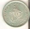 MONEDA DE PLATA DE SUDAFRICA DE 10C DEL AÑO 1964  (COIN) SILVER,ARGENT. - Sudáfrica