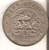 MONEDA DE PLATA DE EAST AFRICA DE 1 SHILLING DEL AÑO 1924  (COIN) SILVER,ARGENT. - British Colony