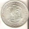 MONEDA DE PLATA DE SUDAFRICA DE 20C DEL AÑO 1964  (COIN) SILVER,ARGENT. - Sudáfrica