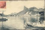 BRAZIL  RIO DE JANEIRO BOTAFOGO E CORCOVADO  OLD POSTCARD - Rio De Janeiro