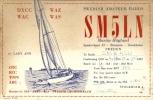 QSL - Zeilboot - Lady Ann -  Sweden Amateur Radio SM5LN - Martin Hoglund Bromma Stockholm 1958 - Cartes QSL