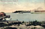 AMERICA THE DOCKS CATAWBA ISLAND OLD POSTCARD - Postcards