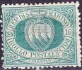 SAN MARINO 1892 Figures And Landscapes 10 C Darkgreen MH Mi. 14 - San Marino