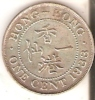 MONEDA DE HONG KONG DE 1 CENT DEL AÑO 1933  (COIN) - Hong Kong