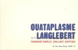 Buvard  Ouataplasme Du  Dr Langlebert Pansement Complet Emolient Aseptique Paris 16è - Chemist's
