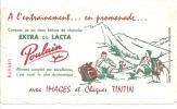 Buvard   Extra Ou Lacta Poulain Blois Avec Images Et Cheques Tintin - Cocoa & Chocolat