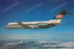 JAT AIRWAYS YUGOSLAV AIRLINES DOUGLAS DC-9 Red Voznje Airplane Aircraft Timetable, Vintage Old Photo Postcard - 1946-....: Moderne