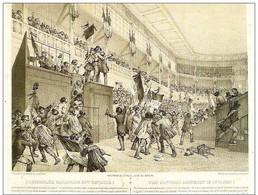 L'ASSEMBLEE NATIONALE EST ENVAHIE 1848-Reproduction Lithographie De V.Adam Et J.Amout - Histoire