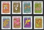 Costa Rica 1967 Yvert  PA 435/442 ** Orchidees Orchids Orquideas - - Orchideeën