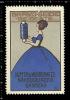 Old Original German Poster Stamp (advertising Cinderella,reklamemarke) Bravo - Seide, Lady, Dame, Silk - Cinderellas