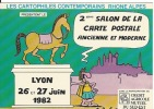 CPSM  69 LYON   Salon 1982 Illustration DuBouillon - Bourses & Salons De Collections