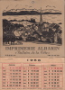"Imprimerie Albarin ""Bulletin De La Côte"" Peseux - Calendrier De 1953 - Grand Format : 1941-60"