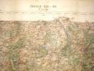 CARTE GEOGRAPHIQUE DE FRANCE-SAINT SAULGE-1885- AVEC ESTAMPILLE -CARTE SERVICE VICINAL - Geographical Maps