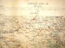 CARTE GEOGRAPHIQUE DE FRANCE-BRIENNE-1884- AVEC ESTAMPILLE -CARTE SERVICE VICINAL - Geographical Maps