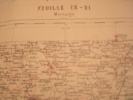 CARTE DE GEOGRAPHIE DE FRANCE-MONTAIGU1879- AVEC ESTAMPILLE -CARTE SERVICE VICINAL - Geographical Maps