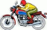 Autocollant ( Pas Une Carte Postale ) Format 17 Cm 12 Cm Moto Honda - Motos