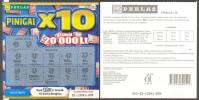 """Lithuania Instant Lottery Ticket """" Money X10 """" Used - Billets De Loterie"""
