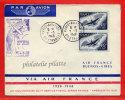 FRANCE 20E ANNIVERSAIRE AEROPOSTALE DE 1948 DE PARIS POUR BUENOS AIRES ARGENTINE - Airmail