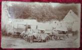 CPA Photo PHOTOGRAPHIE 1918 WWI Militaires 85ème MECANICIENS Automobile RENAULT VOITURE Camion BERLIET Truck CAR - Guerra 1914-18
