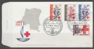 2 ENVELOPPES 1ER JOUR DE REP. DEM. DU CONGO - CENTENAIRE DE LA CROIX-ROUGE INTERNATIONALE - Croix-Rouge