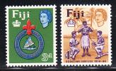 Fiji MNH Scott #206-#207 50th Anniversary Of Founding Of Fiji Boy Scouts - Fidji (...-1970)