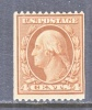 U.S. 334  Perf 12  Fault   (o)    Double Line Wmk. 1908-9 Issue - Unused Stamps