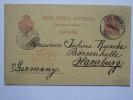 SPAIN 1896 POSTCARD TENERIFE TO HAMBURG GERMANY WITH LIVERPOOL BR PACKET CACHET - 1889-1931 Königreich: Alphonse XIII.