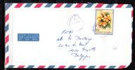Burundi 1986, Fleurs D'Afrique,  PA 556 Sur Lettre - 1980-89: Oblitérés