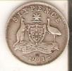 MONEDA DE PLATA DE AUSTRALIA DE 6 PENCE DEL AÑO 1911  (COIN) SILVER,ARGENT - Australia