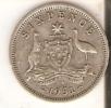 MONEDA DE PLATA DE AUSTRALIA DE 6 PENCE DEL AÑO 1951  (COIN) SILVER,ARGENT - Australia