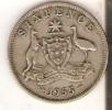 MONEDA DE PLATA DE AUSTRALIA DE 6 PENCE DEL AÑO 1955  (COIN) SILVER,ARGENT - Australia