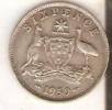 MONEDA DE PLATA DE AUSTRALIA DE 6 PENCE DEL AÑO 1959  (COIN) SILVER,ARGENT - Australia