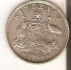 MONEDA DE PLATA DE AUSTRALIA DE 6 PENCE DEL AÑO 1960  (COIN) SILVER,ARGENT - Australia