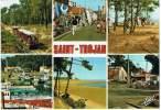 L-COQ-23 - CPM SAINT-TROJAN Avec Flamme Thèmes Mimosas - Huitres - Train - Ile D'Oléron