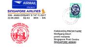 Sonderflugpost - Singapore Airlines - Bangkok - Singapore; 22.09.2003    [dt01] - Thailand