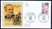 Louis Pasteur SILK Fdc 1973 France. - Louis Pasteur