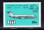 Fiji MNH Scott 350 50c Airplane - UPU Centenary - Fidji (1970-...)