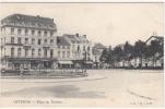 Oostende - Theaterplaats - Bank - Café César - Uitg. LL, B. Nr 64 - Oostende