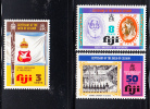 Fiji MNH Scott #354-#356 Fourth Anniversary Of Independence - Fidji (1970-...)