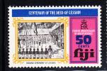 Fiji MNH Scott #356 50c Signing Ceremony - Fourth Anniversary Of Independence - Fidji (1970-...)