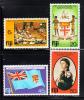 Fiji MNH Scott #434-#437 10th Anniversary Of Independence - Fidji (1970-...)