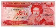 Caraïbes Orientales / East Caribbean, 1 Dollar, 1985, (suffixe G) - Caraïbes Orientales