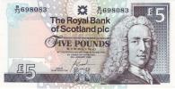 SCOTLAND 5 POUNDS 2010 PICK 352 UNC - [ 3] Scotland