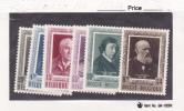 Belgium  Scott # B515-20 MNH  Catalogue $115.00 Slight Crease On B517 - 1905 Thick Beard