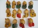 Petites Geishas En Bois Tourné Et Peint /vers 1960 ?               JE 21 - Figurines